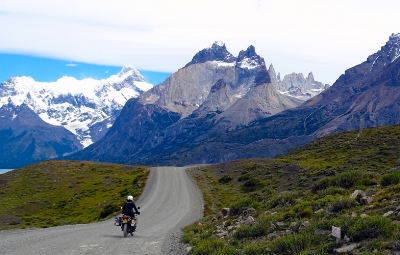 Riding in Torres del Paine in Patagonia.