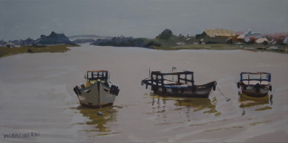 """oil on canvas  12"""" X 24""""   View VIETNAM collection >>"""