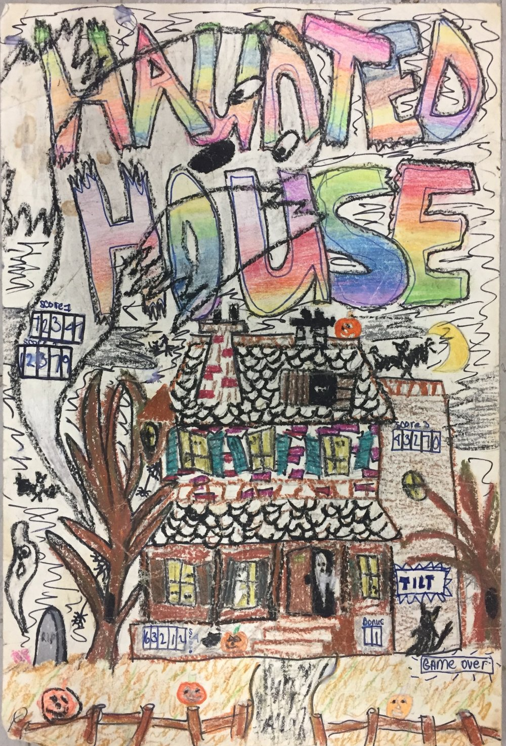 Haunted House Drawing from Paul's Childhood