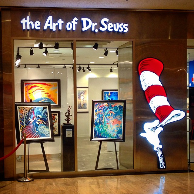 Our new sign! #drseussart #chicago #michiganave