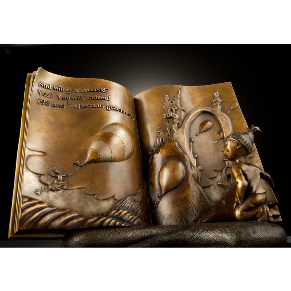 Oh, the Places You'll Go! Bronze - Maquette