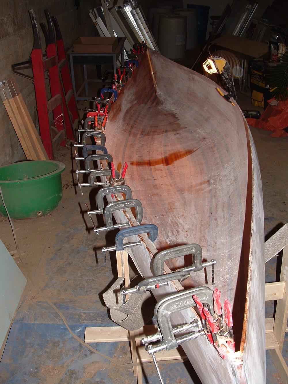 Glueing on the gunnels