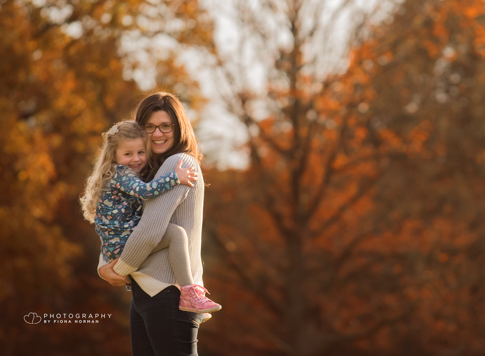 Outdoor Mother and daughter photo shoot