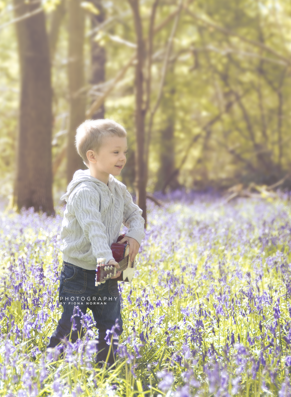 Outdoor bluebell photo shoot