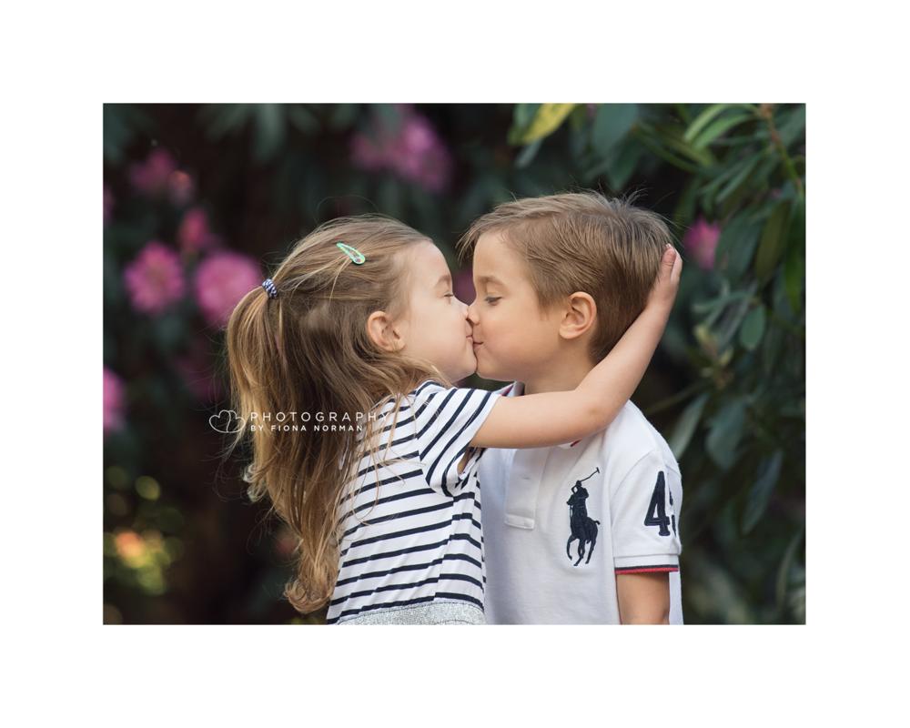 Brother sister kiss photograph maidenhead