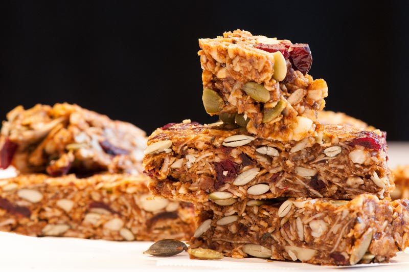 Chewy Granola Bars with Coconut and Cranberries