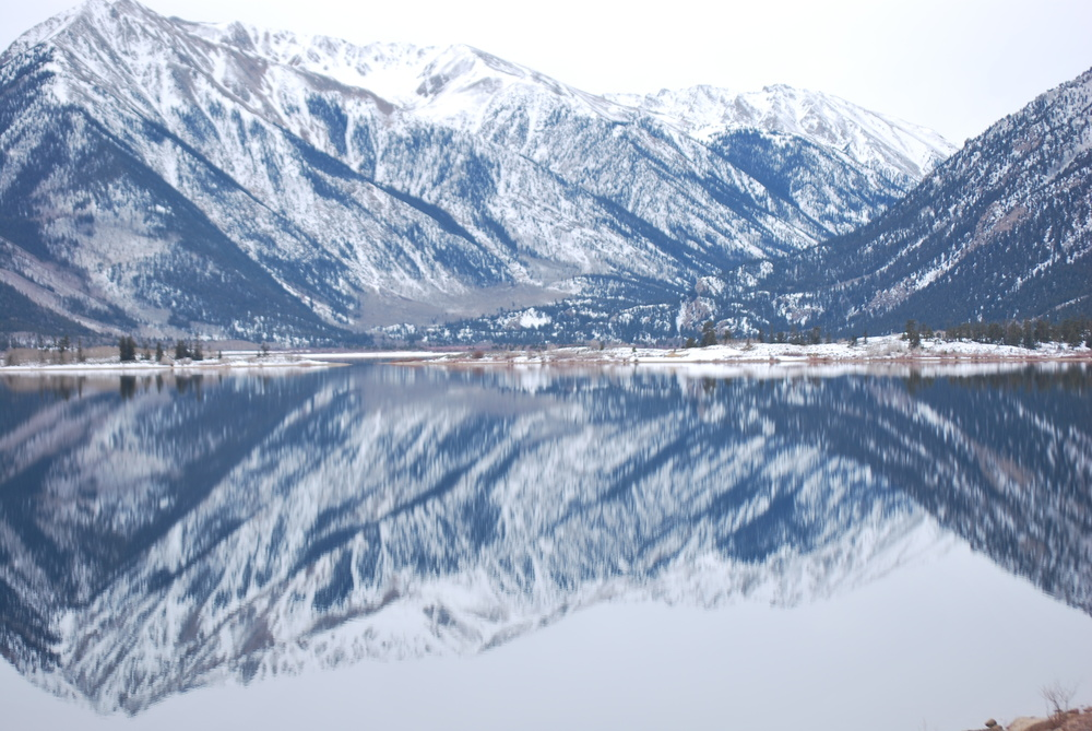 Twin lakes in December
