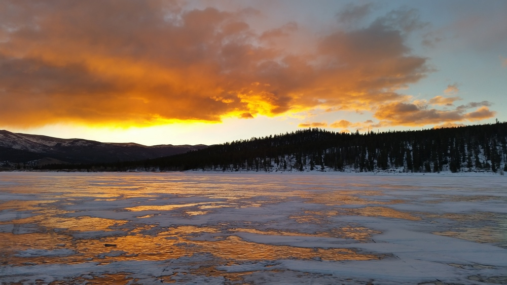 Sunrise at Twin Lakes Colorado