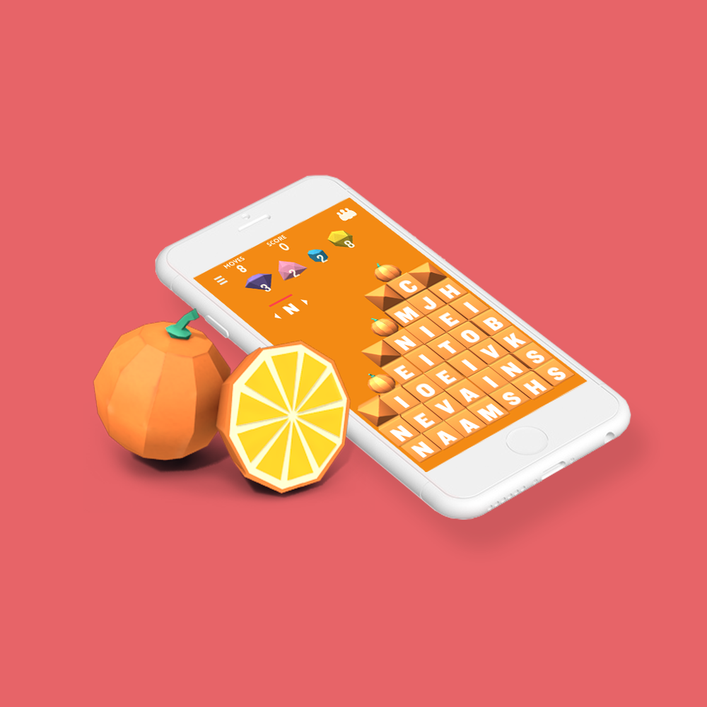 Find words to collect Paper Fruits and make your way through hundreds of levels. -