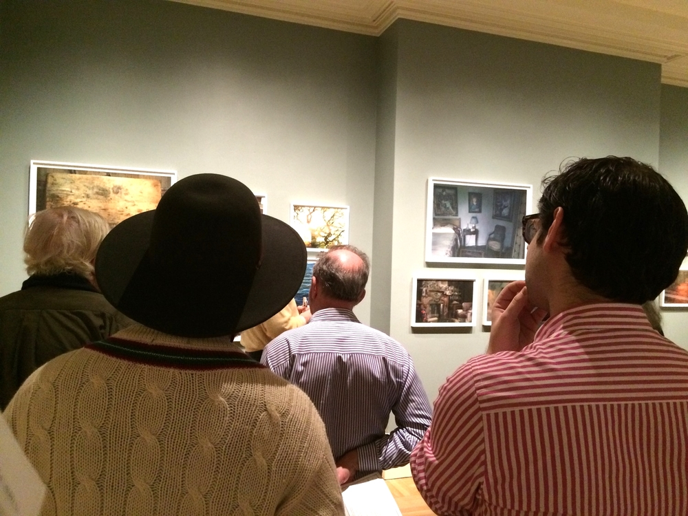 Ryan Matzner and George Kailas on the tour of Annie Leibovitz's Pilgrimage exhibition.