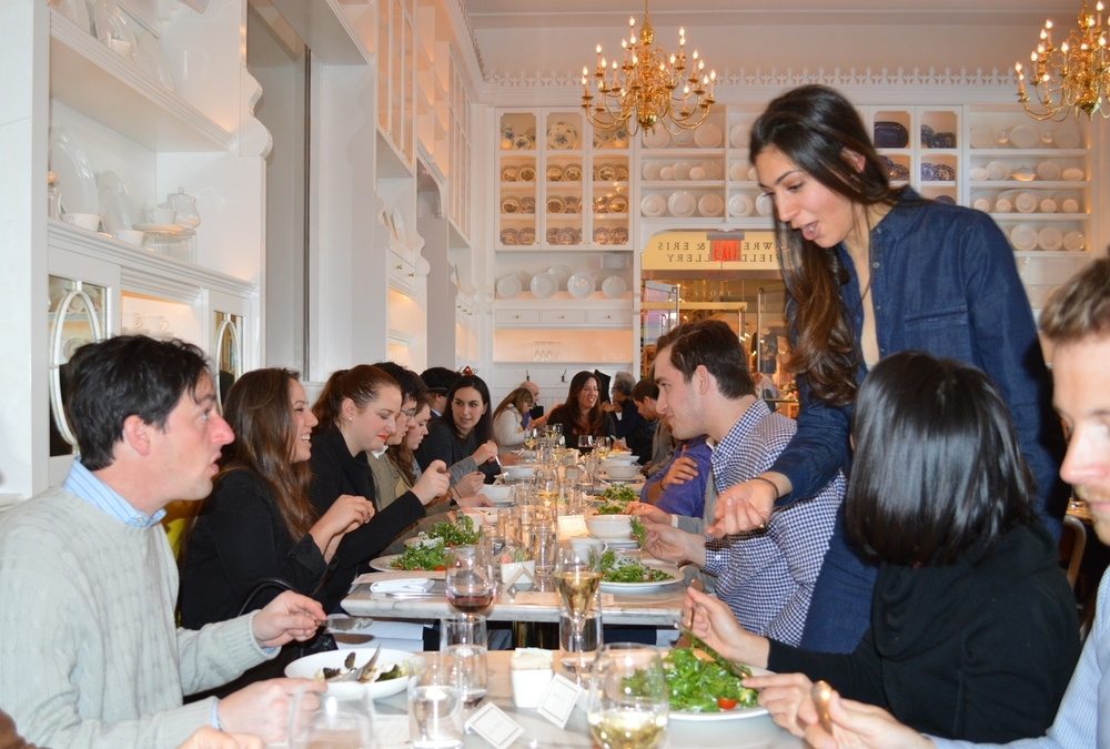 Guests sitting on the banquet of Caffe Storico at the New York Historical Society