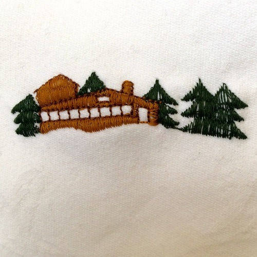 Frank Lloyd Wright Embroidered Napkin.jpg