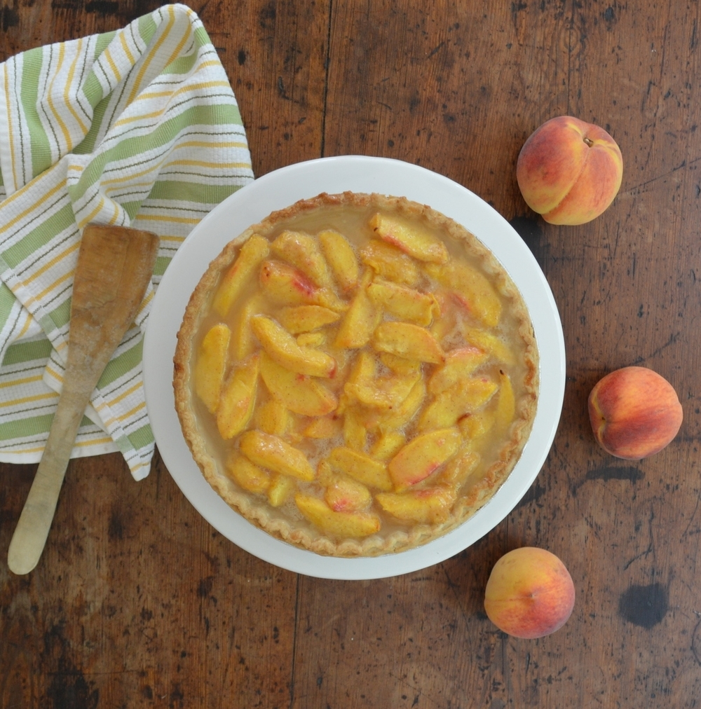 Peach pie with Long Island peaches