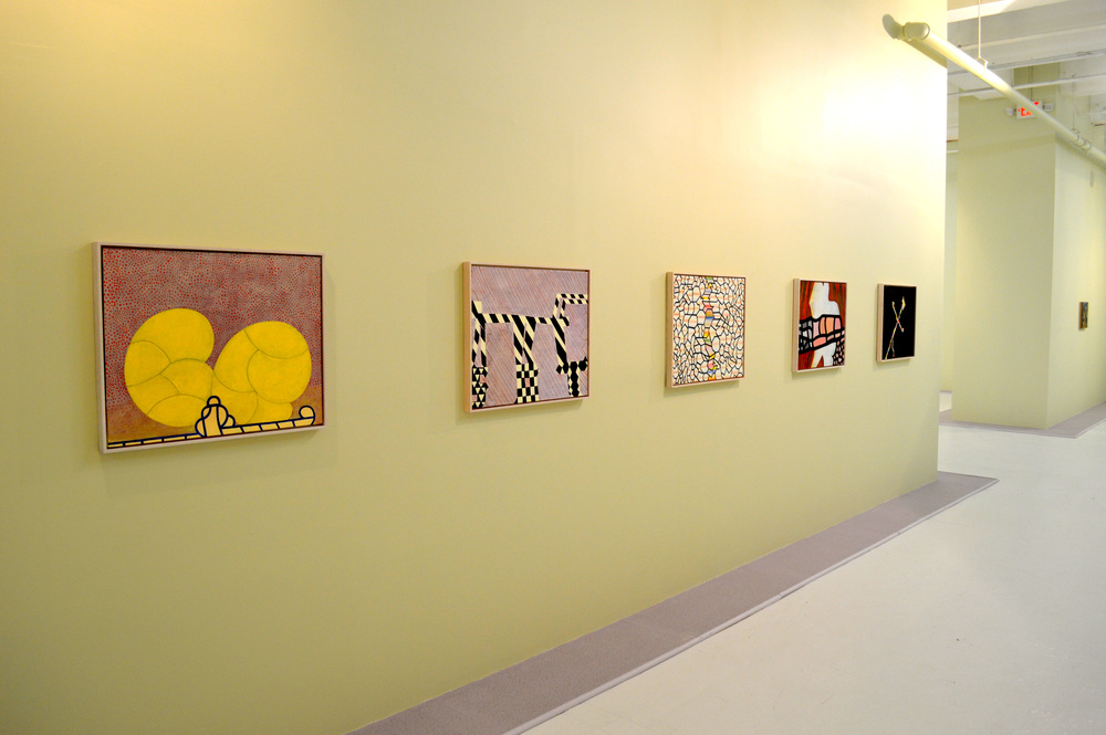 Installation of works by Thomas Nozkowski, from Intimacy in Discourse: Reasonable Sized Paintings