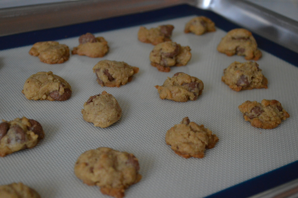 Bite-sized chocolate chip cookies