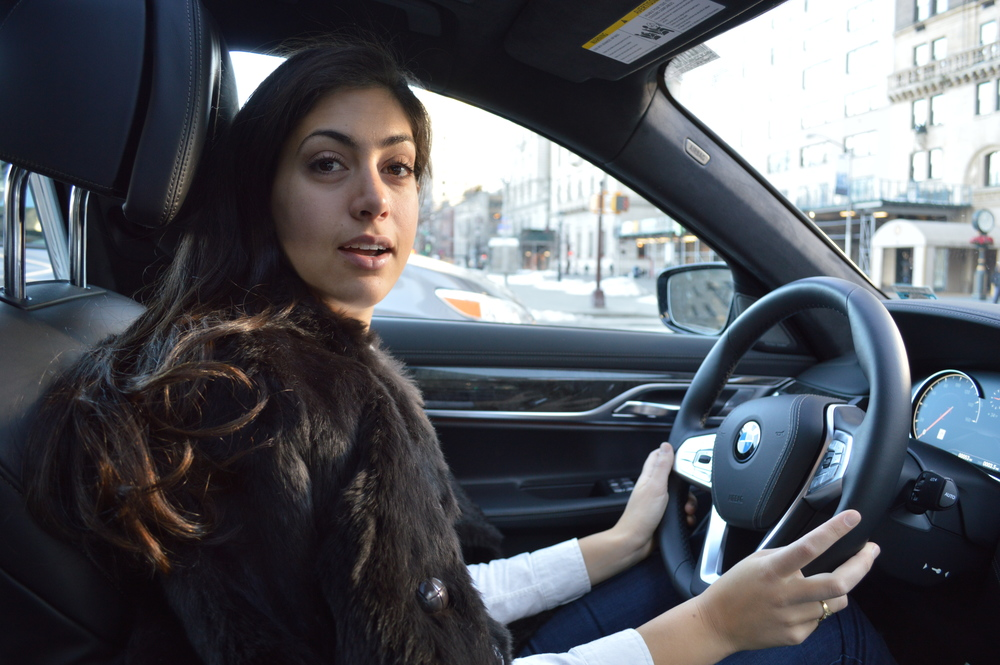 """Chefanie"" in BMW New York's 7 Series"