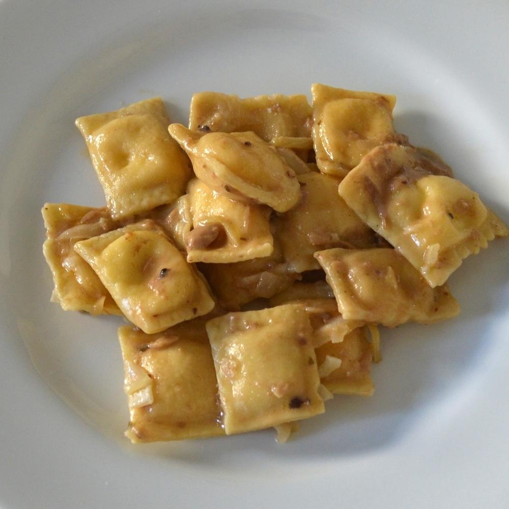 Chefanie's ravioli in a white truffle sauce, courtesy of Urbani
