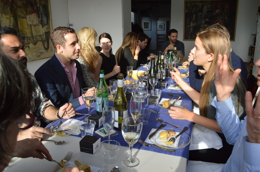 Guests conversing over the lively luncheon