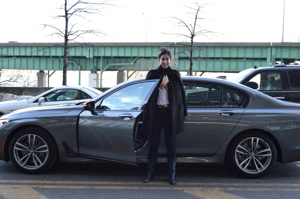 Chefanie with the BMW 7 Series