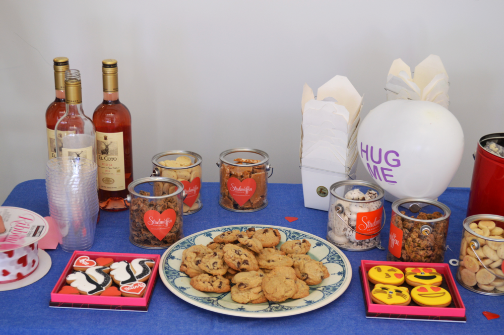 """Love Stinks"" and ""iCookie"" by  Eleni's  Cookies and Chefanie's famous chocolate chip cookies"