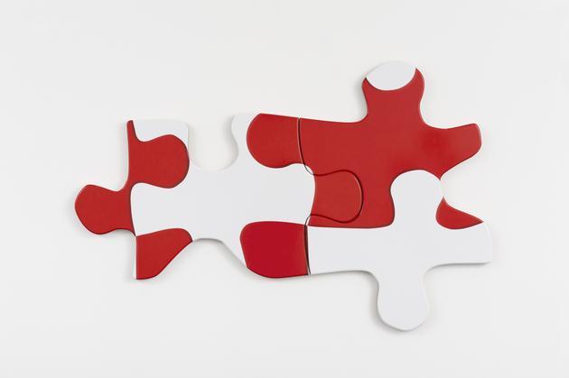 Bill Anastasi's  Puzzle Puzzle  , 2015. Photo credit: Sandra Gering Gallery