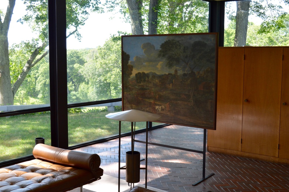 Philip Johnson's Glass House creates a dialogue with nature