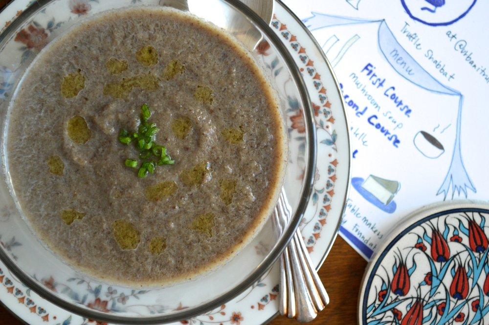Chefanie Mushroom Soup (recipe here)