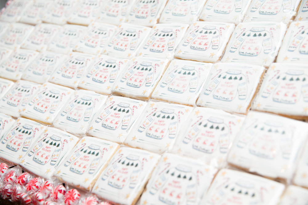 Detail of cookie shingles, painted by Chefanie. Photo credit: Noa Griffel for BFA