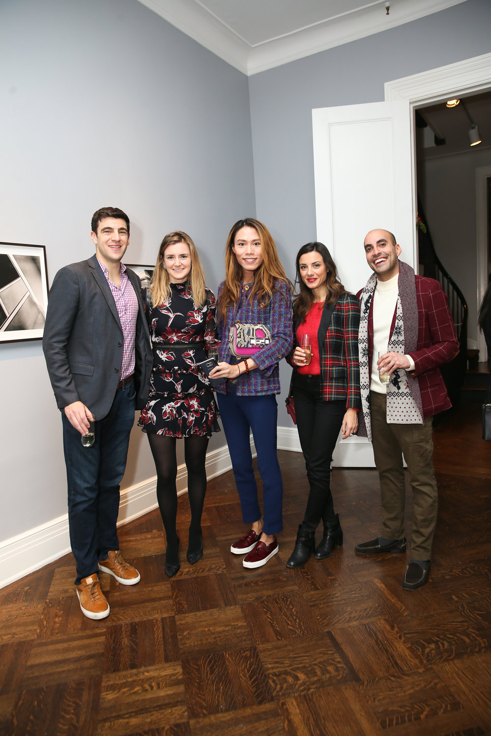 From left: Hal Coopersmith, Flora Irving, Andrew Cheng, Verdiana Patacchini, Matt Vahidi. Photo credit: Noa Griffel for BFA