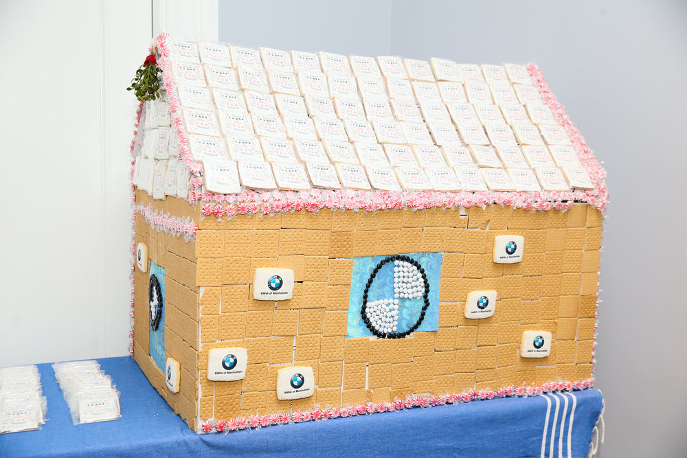 Lifesize gingerbread house, made possible by BMW of Manhattan. Photo credit: Noa Griffel for BFA