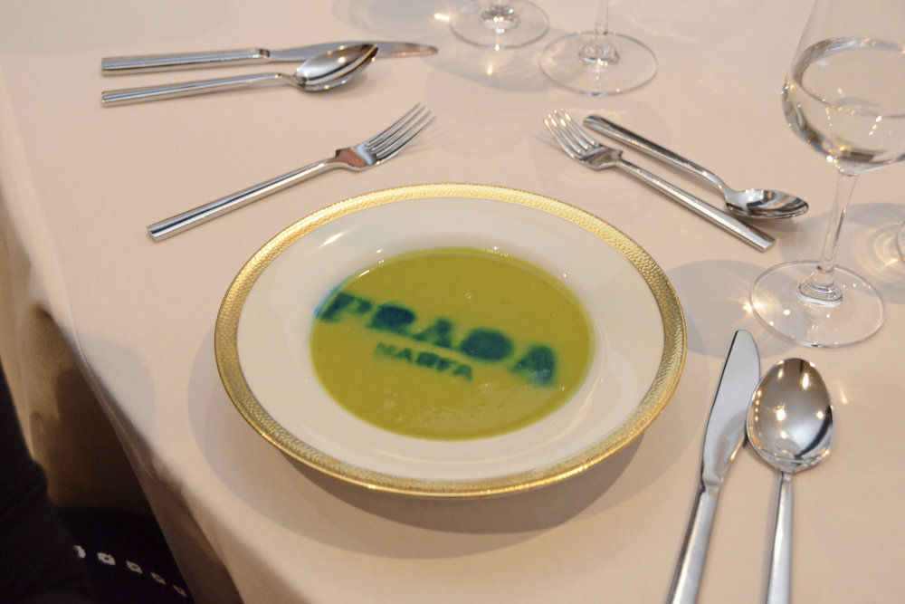 Prada Marfa Pea Soup. Photo credit Lukas Greyson