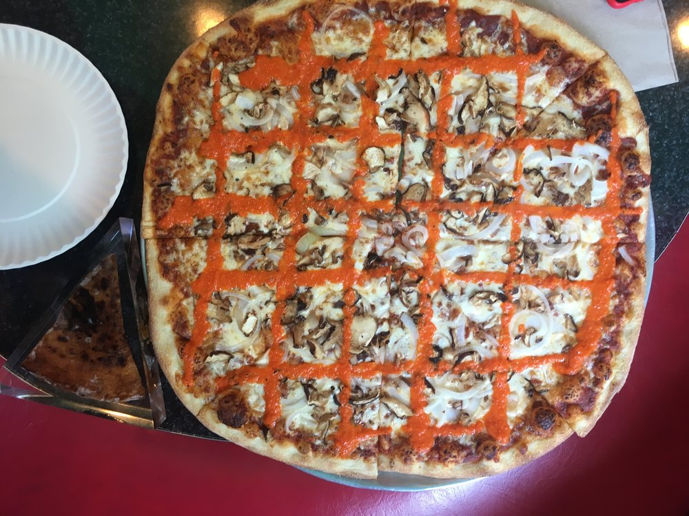 "The ""Tony Clifton"" pizza pie served at Two Boots Pizza."