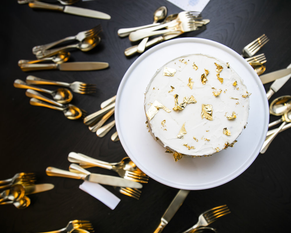 Cake with  Gold Chefanie Sheets