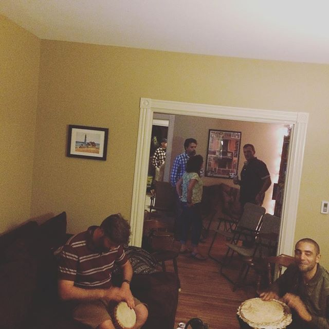 Post Concert drum circle! #houseconcert #avantfolk #musiccommunity
