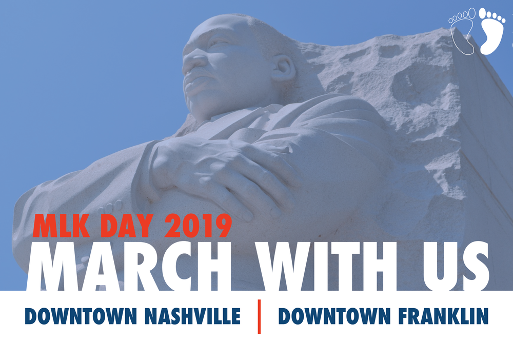 *2019 Event Notice - The staff at Barefoot Republic would like to thank you for your interest in our 5K event. To celebrate the life and legacy of Dr. Martin Luther King Jr.,  we are taking break from our event this year and marching with our friends and family in Nashville at Tennessee State Univerisity, as well as in Franklin with First Missionary Baptist Church.  Please join us if you are able. To help ensure we are able to bring this event back next year, please consider volunteering. If you are interested, you may contact Jenny.