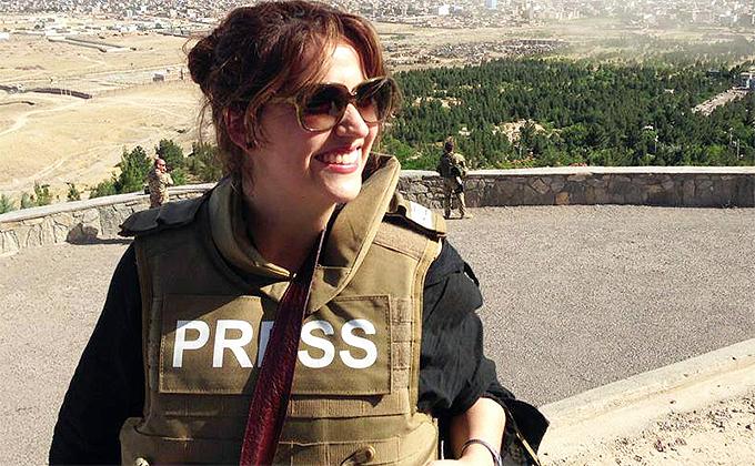Fellow  Amie Ferris-Rotman in Afghanistan. (Cees Roels)