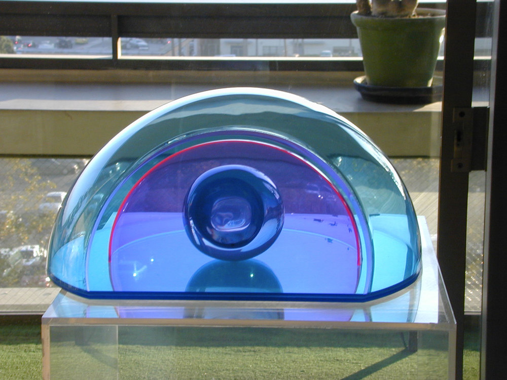 "Hollywood Bowl,1967  Resin, Acrylic with Vacuum Formed  12 5/16""x14 3/4""x6 1/4"""