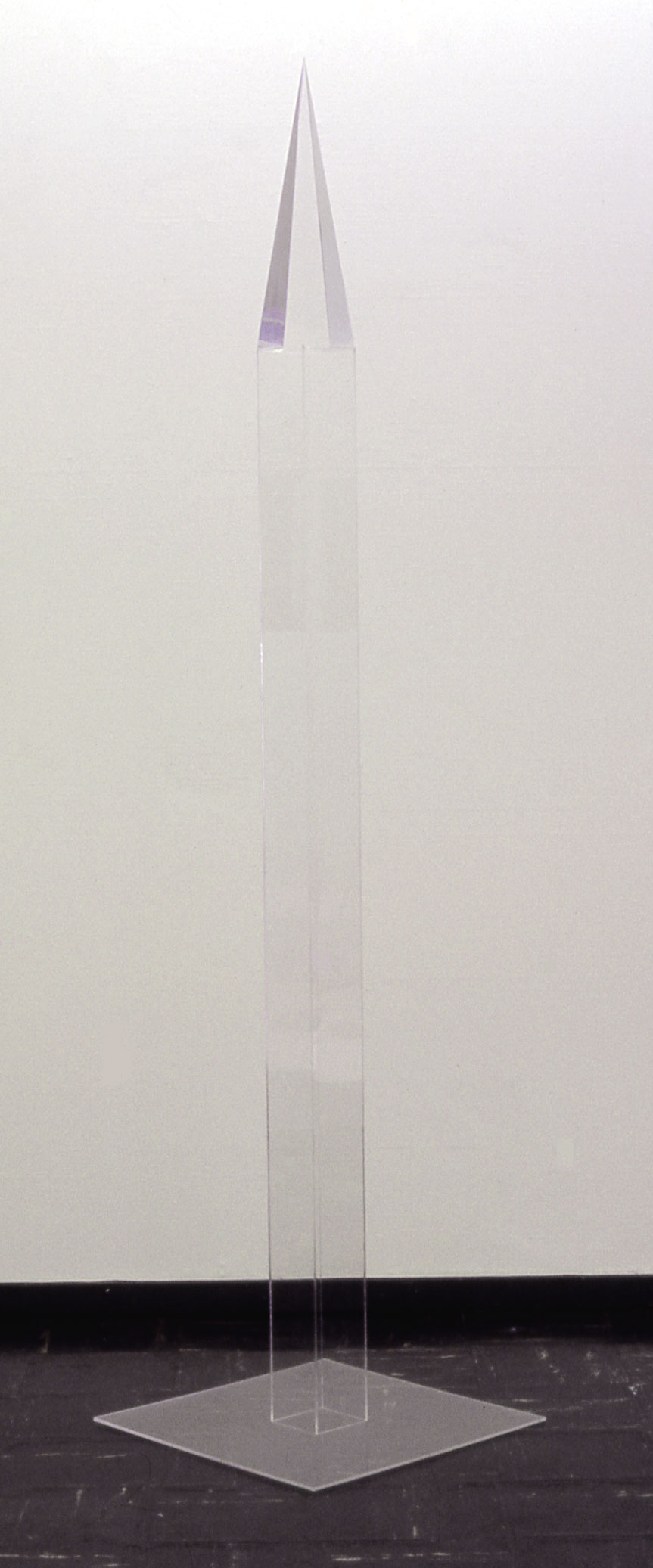 "Obelisk, 1970  Acrylic and Resin  3""x3""x6'"