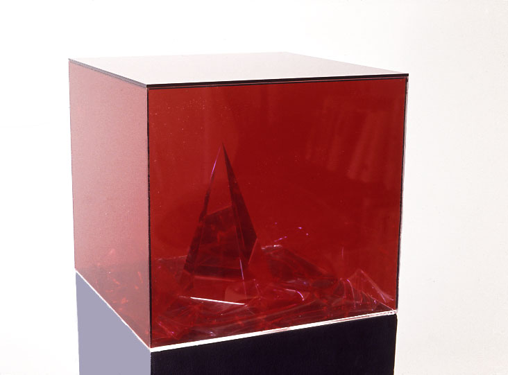 "Red Desert,1971  Resin, Acrylic, and Vinyl  11""x12""x12"""