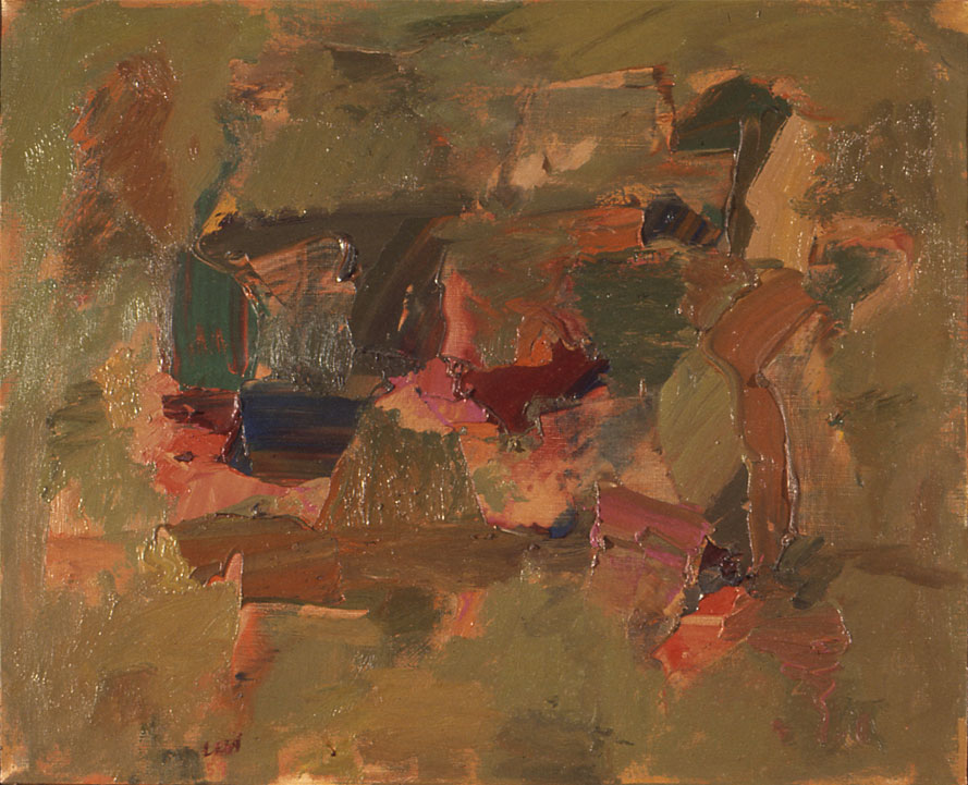 "Green, 1958  Oil on Canvas  18""x22"""