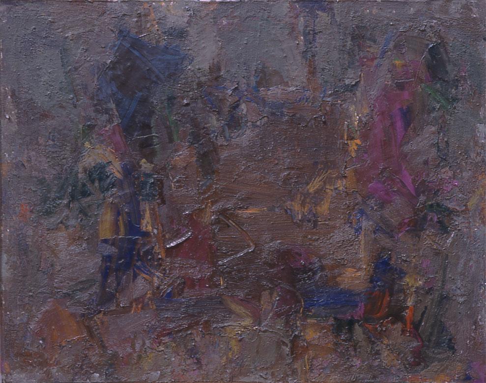 "Black 1959  Oil on Canvas  45""x60"""