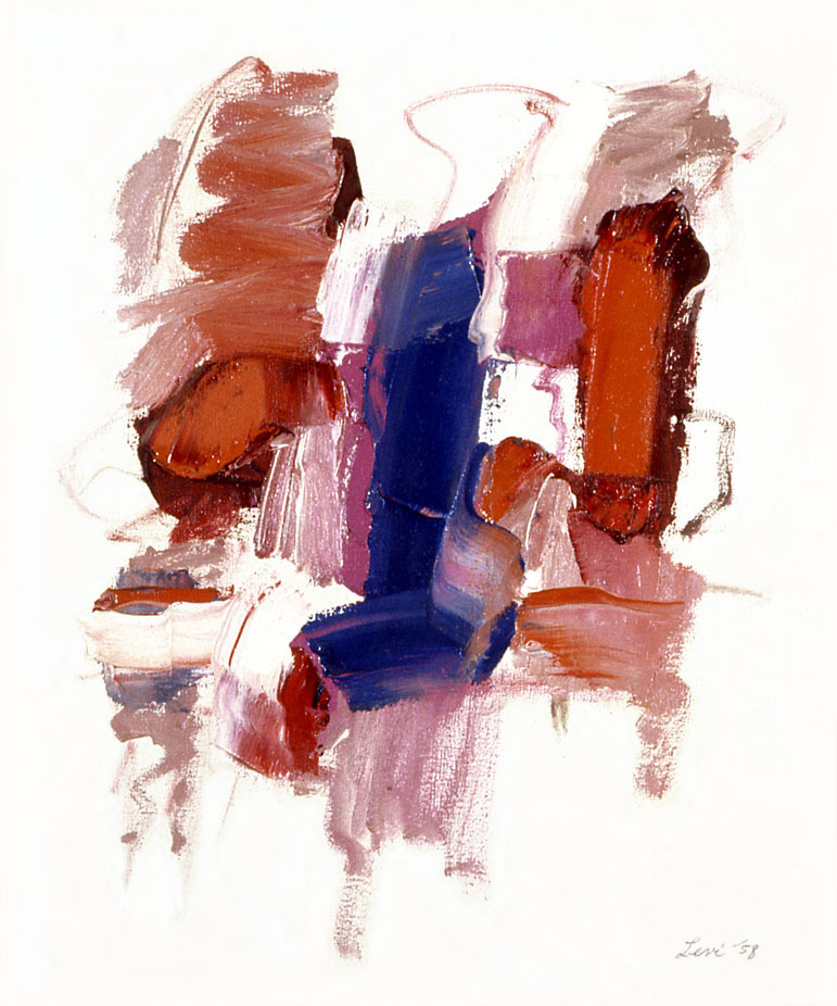 "Red, White and Blue, 1958  Oil on Canvas  20""x24"""
