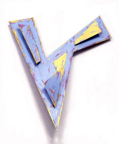 V, 1992  Acrylic Paint on Plywood  4'x6'x3'