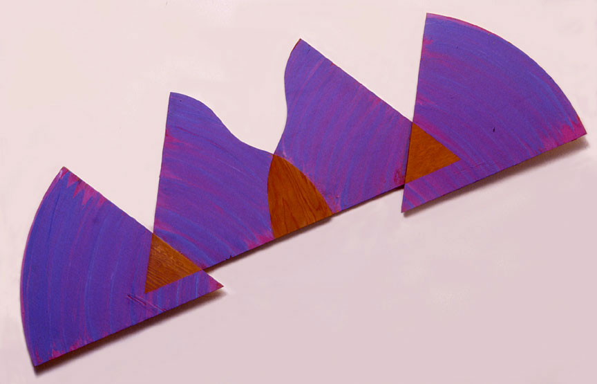 "Blue Violet, Sequential Series, 1988  Acrylic Paint on Plywood  72""x20""x1"""