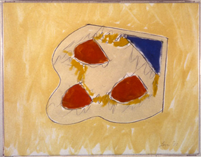 "From Wood1, 1984   Monoprint  11""x14"""