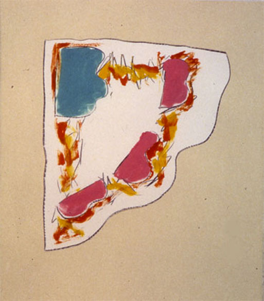 "From Wood4, 1984   Monoprint  11""x14"""