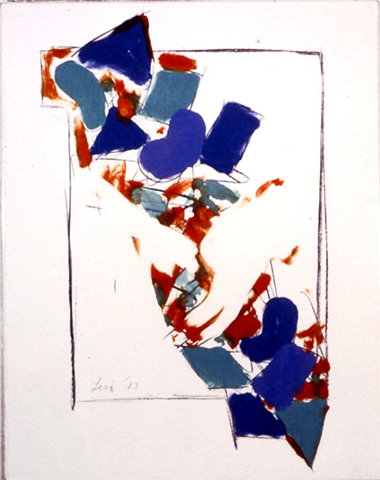 "From Wood5, 1984   Monoprint  11""x14"""