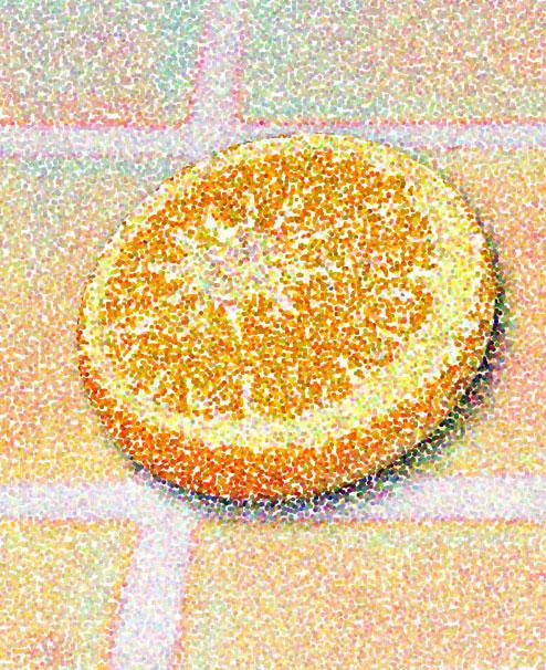 Orange in Space, 2002  Digital Painting