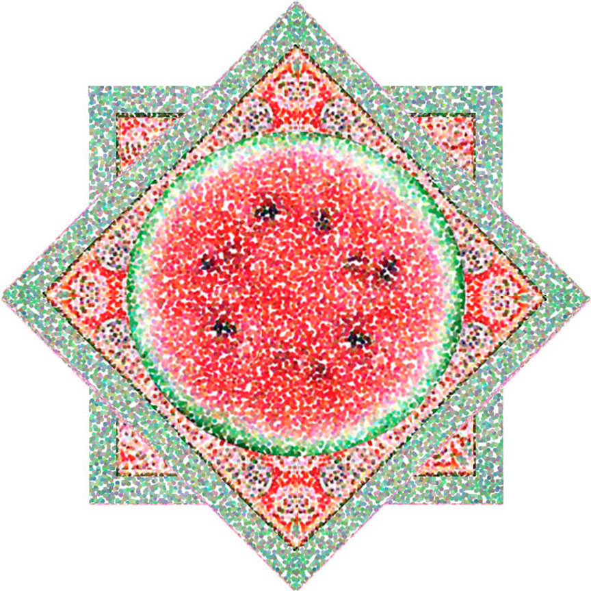 Thai Star Watermellon, 2001  Digital Painting