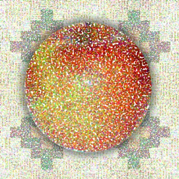 Apple (Circle) Pixels, 2003  Digital Painting